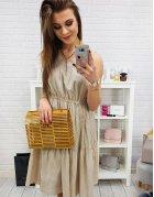 Béžové šaty Elegance