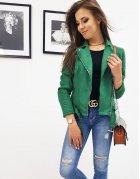 Zelená dámska bunda