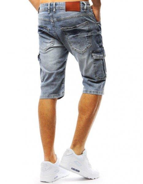 Pánske modré džínsové kraťasy