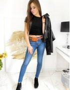 Pánske džínsovo-teplákové nohavice