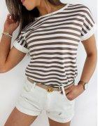 Béžové dámske tričko Portos