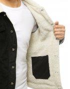 Modrá košela pánska s pásikmi s dlhým rukávom