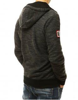 Čierna pánska softshellová bunda s kapucňou
