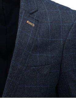 Pánska prešívaná prechodná čierna bunda