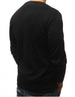 Bunda pánska pikovaná s kapucňou čierna