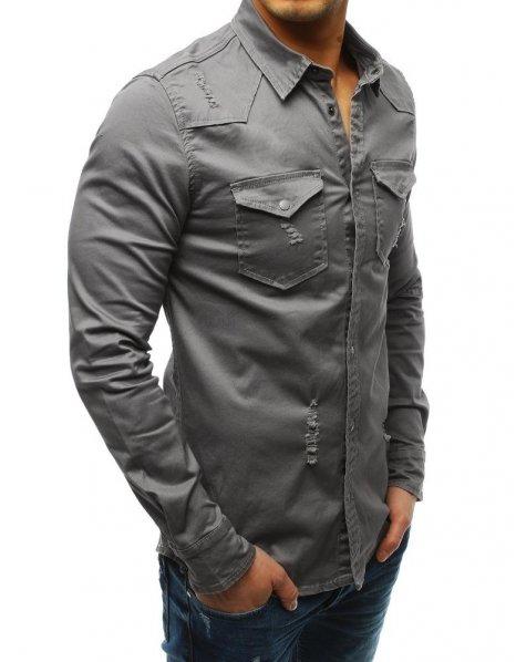 Pánska šedá košeľa