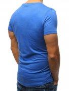 Modré hladké pánske tričko