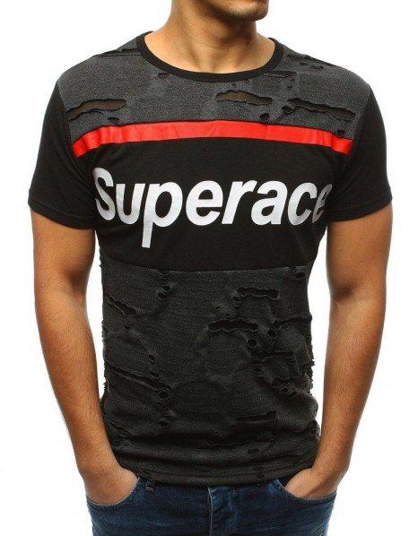 Antracitové pánske tričko s potlačou