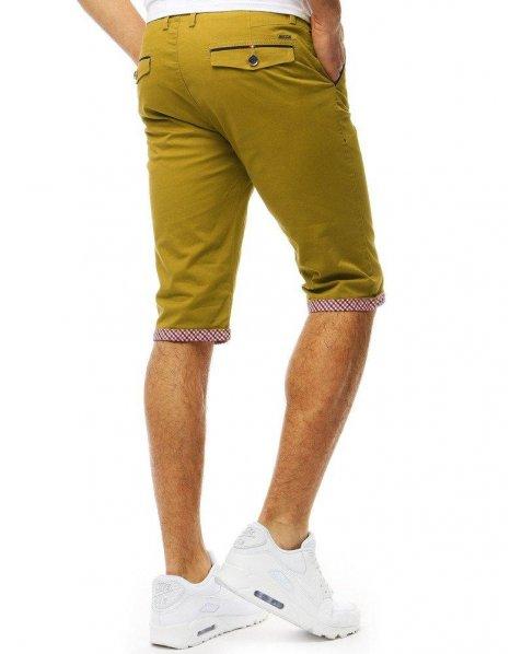 Pánske džínsové žlté kraťasy