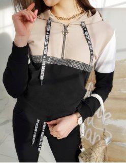 Tmavomodrá pánska prešívaná vesta s kapucňou