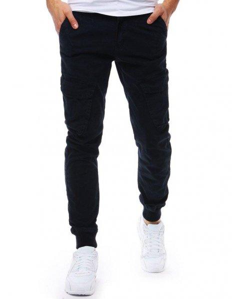 Pánske džínsové tmavomodré jogger nohavice