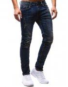 Pánske modré teplákové baggy nohavice