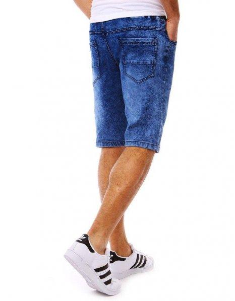 Modré pánske kraťasy s džínsovým vzhľadom