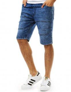 Modrá košela pánska so vzormi s dlhým rukávom
