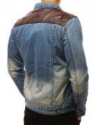 Modrá dámska džínsová bunda