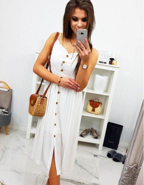 Šaty Giulia ecru na ramienkach