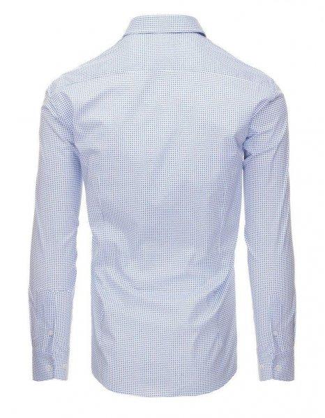 Biela pánska košela so vzorom a dlhými rukávmi