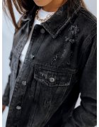 Čierna dámska džínsová bunda Derro
