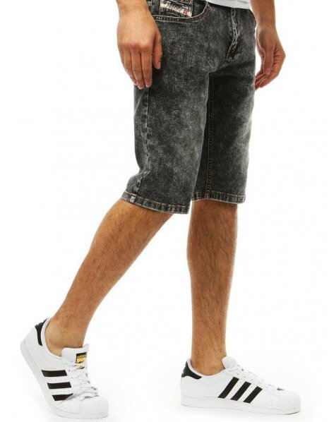 Pánske džínsové čierne kraťasy
