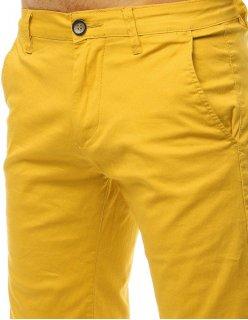 Mužské modré džínsy v tmavej farbe