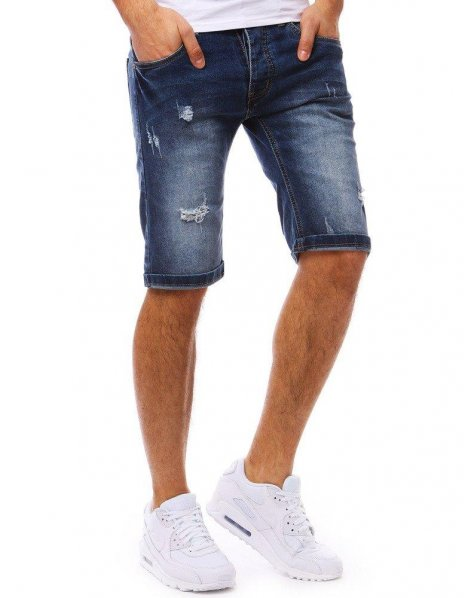 Pánske džínsové tmavo-modré kraťasy
