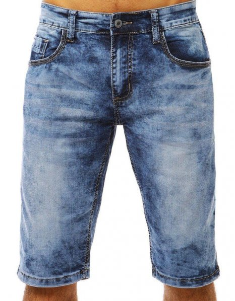 Pánske džínsové modré kraťasy