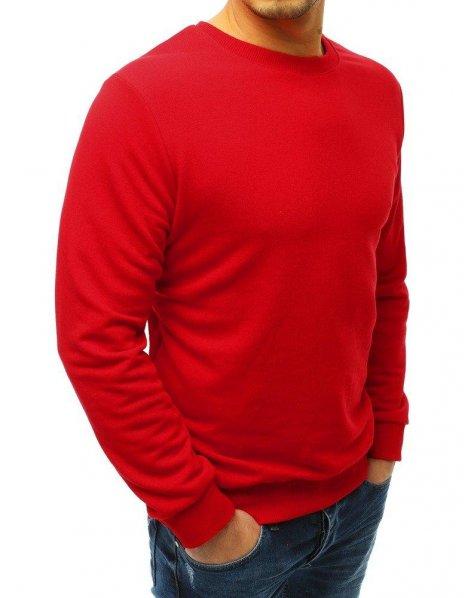 Pánska červená mikina bez potlače