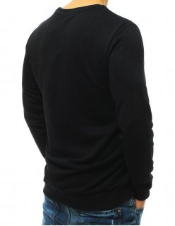 Čierna bunda s kapucňou a svetlejšími rukávmi