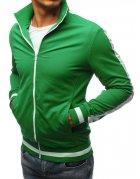 Zelená pánska rozopínateľná mikina