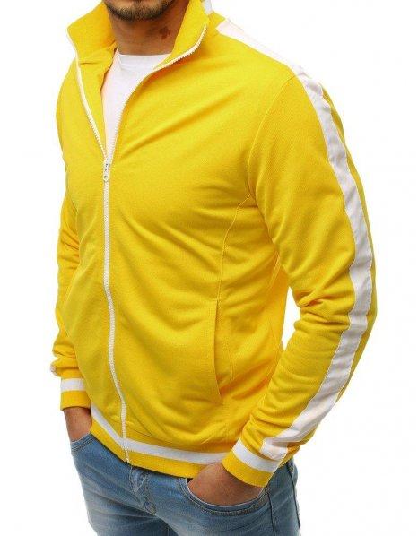 Žltá pánska rozopínateľná mikina