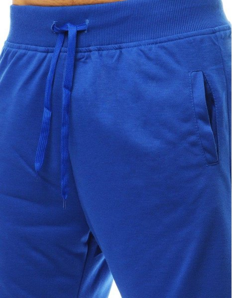 Krátke pánske teplákové modré kraťasy
