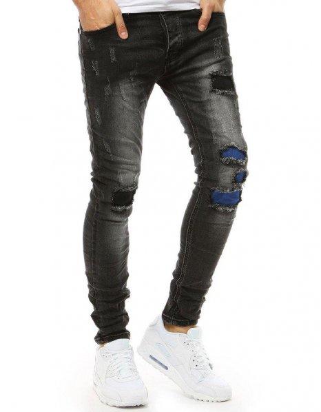 Čierne pánske džínsové nohavice