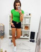 Zelené dámske hladké tričko