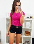 Ružové dámske hladké tričko