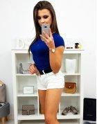 Modré dámske hladké tričko