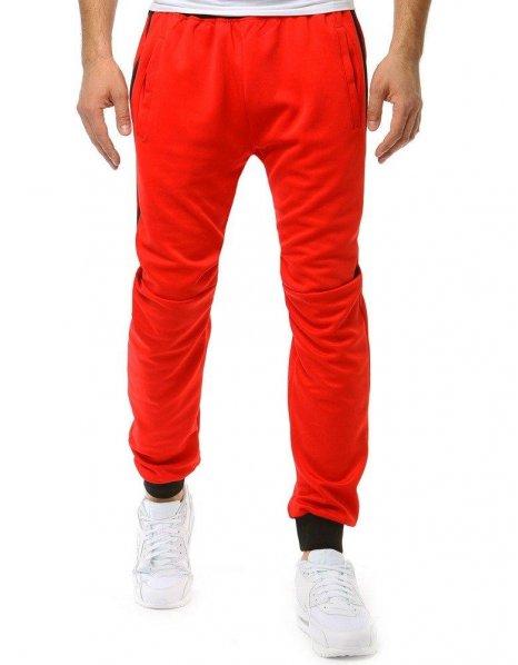 Červené pánske teplákové nohavice