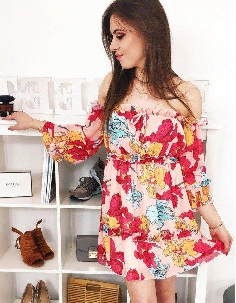 Pomarančové hispánske šaty Amore