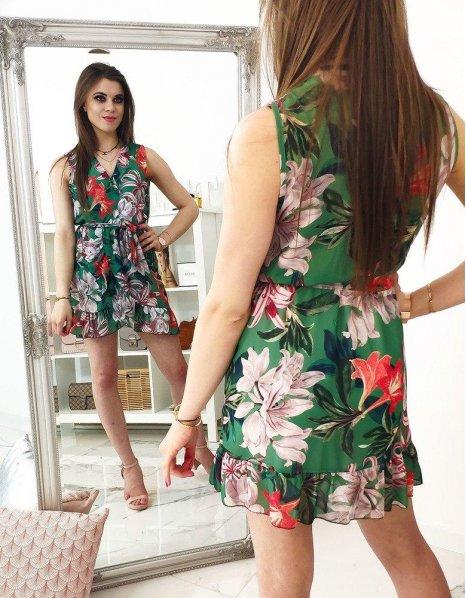 Šaty zelené so vzormi