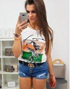 Dámske tričko Pelikan s potlačou smotanové
