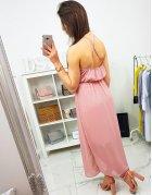 Ružové šaty Maxi Basic