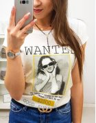 Dámske tričko Wanted s potlačou smotanová