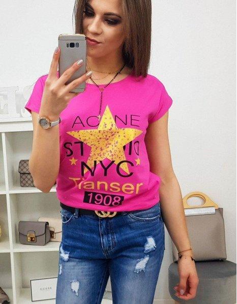 Dámske tričko Star s potlačou ružové