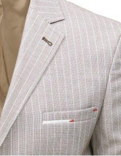 Blankytná pánska košela s trojuholníkovými vzormi
