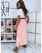 Ružová sukňa maxi Rabiosa