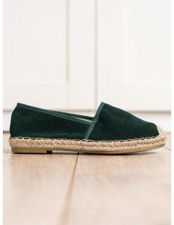 Semišové ploché sandále do špičky