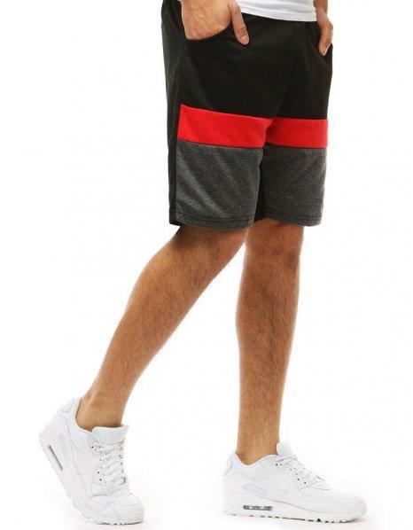 Pánske krátke čierne teplákové nohavice
