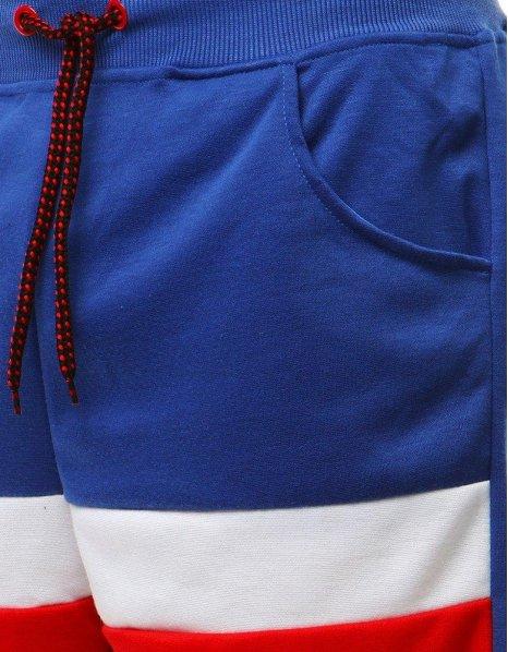 Pánske krátke modré teplákové nohavice
