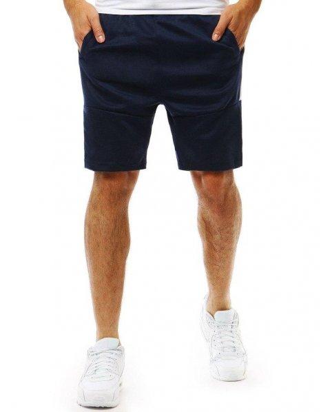 Pánske krátke tmavomodré teplákové nohavice