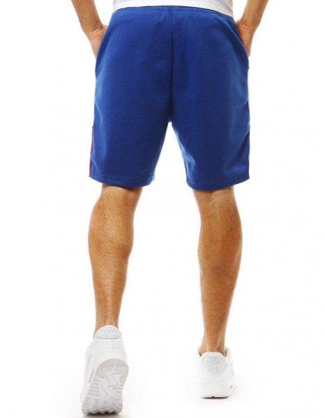 Krátke modré teplákové kraťasy