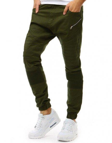 Pánske zelené jogger nohavice